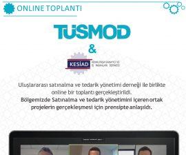 TÜSMOD ve KESİAD online platformda bir araya geldi.