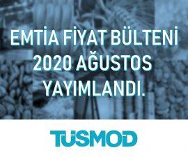 Emtia Fiyat Bülteni 2020'08