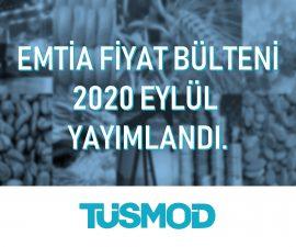 Emtia Fiyat Bülteni 2020'09