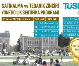"""Boğaziçi Üniversitesi onaylı """"Satınalma ve Tedarik Zinciri Yöneticilik Sertifika Programı"""" 18 Kasım'da ONLINE olarak başlıyor…"""