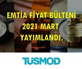 Emtia Fiyat Bülteni 2021'03