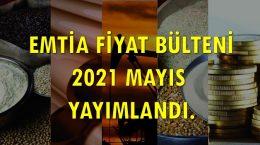 Emtia Fiyat Bülteni 2021'05