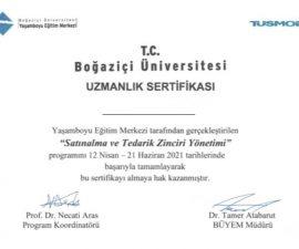"""Boğaziçi Üniversitesi onaylı uluslararası """"Satınalma ve Tedarik Zinciri Yöneticilik Sertifika Programı"""" 25 Eylül'de HİBRİD olarak başlıyor…"""